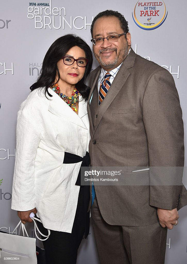 Marcia Dyson (L) and Michael Eric Dyson attend the Garden Brunch prior to the 102nd White House Correspondents' Association Dinner at the Beall-Washington House on April 30, 2016 in Washington, DC.