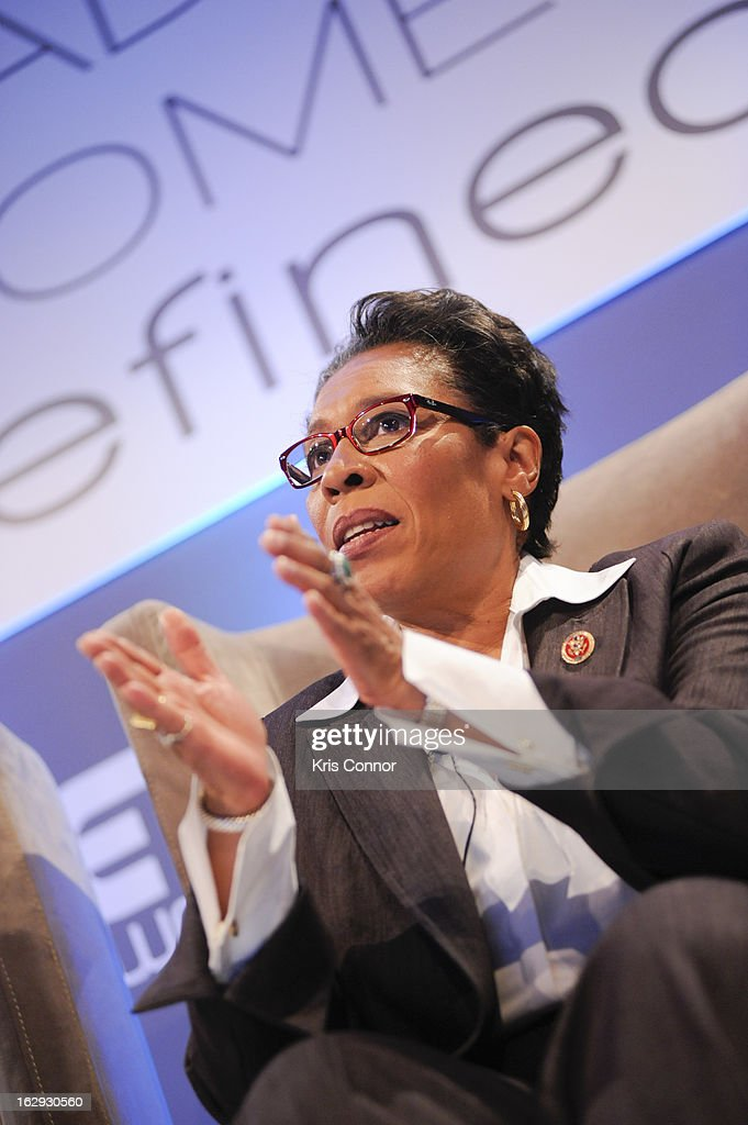Marcia Fudge speaks during the Leading Women Defined: Women On Washington at Ritz Carlton Hotel on March 1, 2013 in Washington, DC.