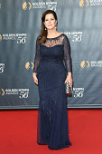 Marcia Gay Harden arrives at the 56th Monte Carlo TV Festival Closing Ceremony and Golden Nymph Awards at The Grimaldi Forum on June 16 2016 in...
