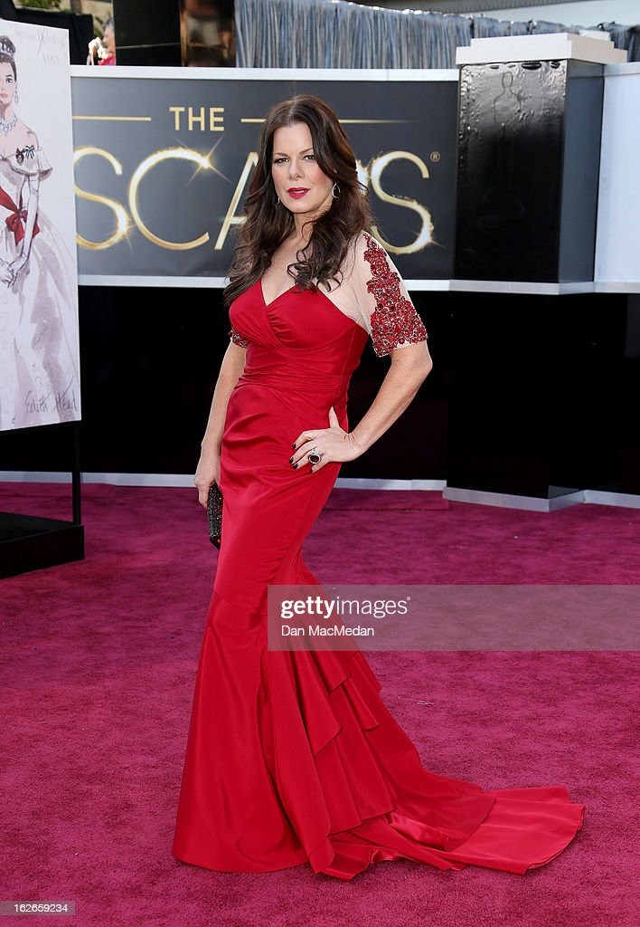 Marcia Gay Harden arrives at the 85th Annual Academy Awards at Hollywood & Highland Center on February 24, 2013 in Hollywood, California.