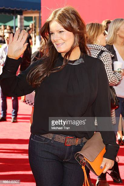 Marcia Gay Harden arrives at the Los Angeles premiere of 'The Lego Movie' held at Regency Village Theatre on February 1 2014 in Westwood California
