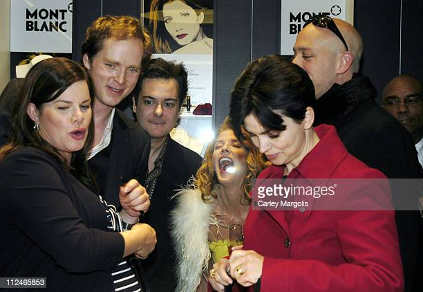 Marcia Gay Harden Charles Askegaard guest Candace Bushnell Karen Duffy and Robert Verdi