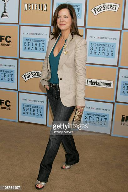 Marcia Gay Harden during Film Independent's 2006 Independent Spirit Awards Dockers in Santa Monica California United States