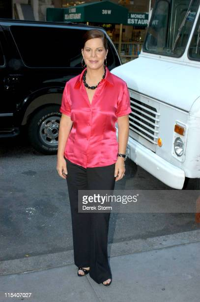 Marcia Gay Harden during Marcia Gay Harden Brandon Craggs and Sammi Kraft Visit the 'Today' Show July 20 2005 at The 'Today' Show Studios in New York...
