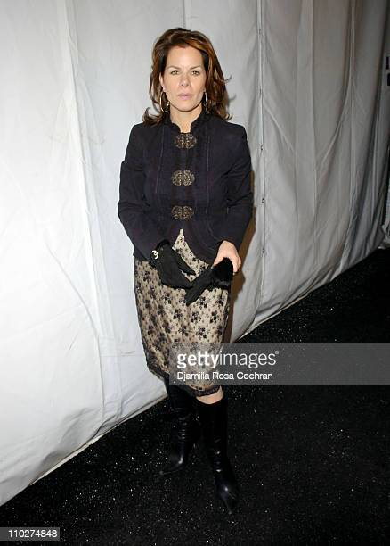 Marcia Gay Harden during Olympus Fashion Week Fall 2006 Seen Around Tent Day 3 at Bryant Park in New York City New York United States