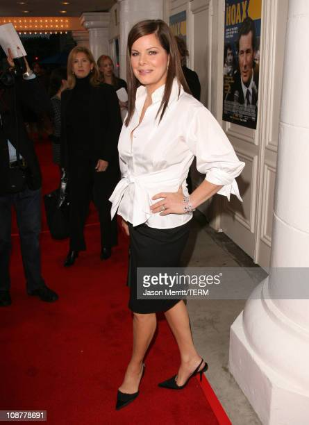 Marcia Gay Harden during 'The Hoax' Los Angeles Premiere Red Carpet at Mann Festival in Westwood California United States