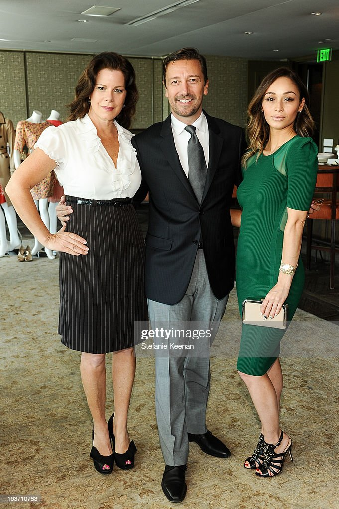 Marcia Gay Harden, Mark Lukas and Cara Santana attend L.K. Bennett Tea Luncheon on March 14, 2013 in West Hollywood, California.