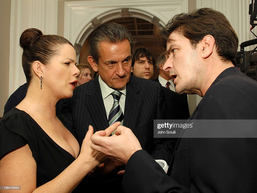 Marcia Gay Harden Stephen Urquhart and Charlie Sheen