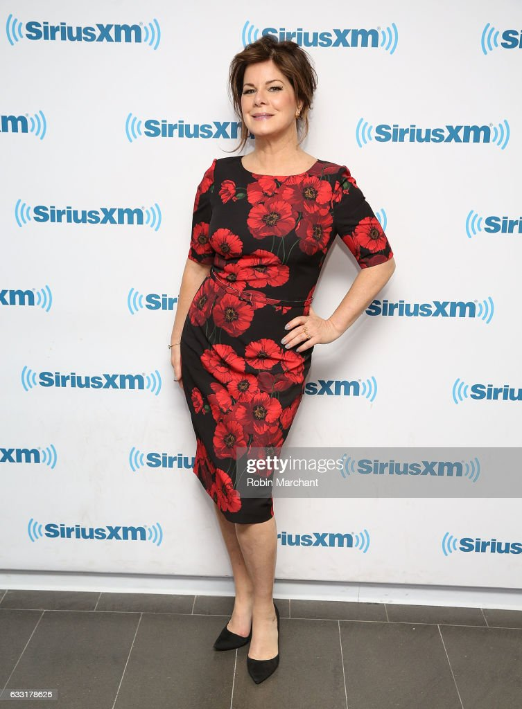 Marcia Gay Harden visits at SiriusXM Studios on January 31, 2017 in New York City.