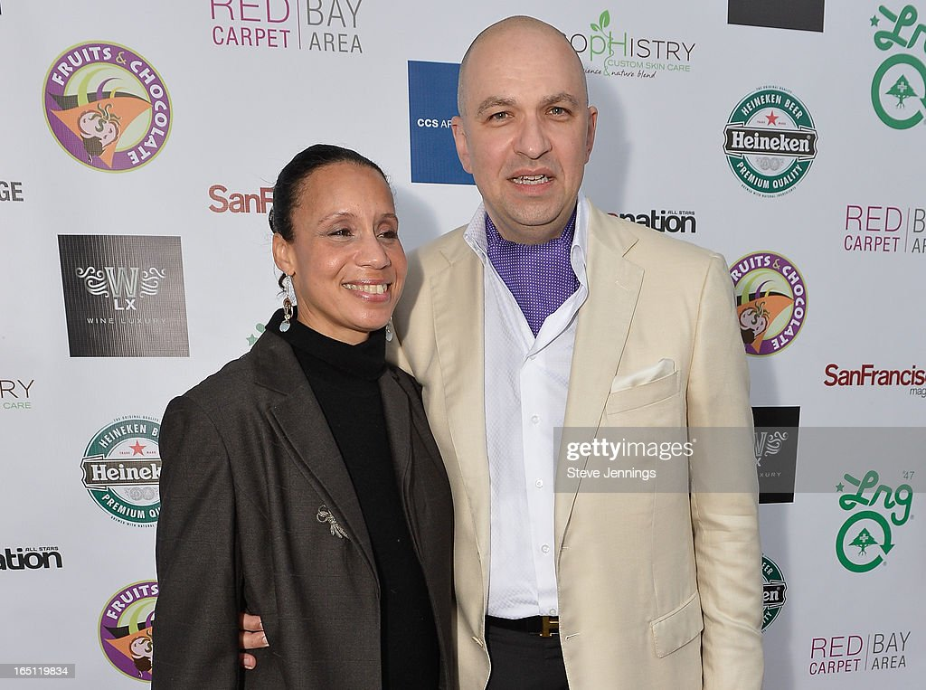 Marcia Harrison and David Mitchell (L-R) attend the 6th Annual 'Where Hip Hop Meets Couture' Fashion Show at Dog Patch Wine Works on March 30, 2013 in San Francisco, California.