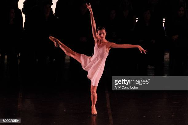 Marcia Jacqueline prima ballerina at the Rio de Janeiro ballet performs Carl Orff's 'Carmina Burana' at the Theatro Municipal in Rio de Janeiro...