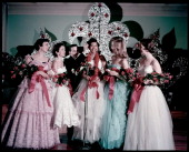 Marcia Koch Janice Barnes Jay Ryan Director or SUI Pageant Dora Lee Martin crowned as Miss State University Queen Barbara Potts and Dixie Davenport...