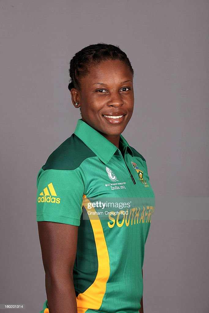 Marcia Letsoalo of South Africa poses at a portrait session ahead of the ICC Womens World Cup 2013 at the Taj Mahal Palace Hotel on January 27, 2013 in Mumbai, India.