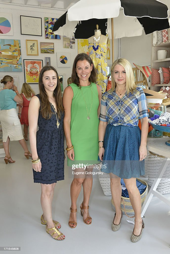 Marcie Pantzer, Serena Dugan and Kelly Behun Sugarman attend the Serena & Lily Host Private Shopping Event to Benefit Baby Buggy at Its Hamptons Store on June 26, 2013 in Wainscott, New York.