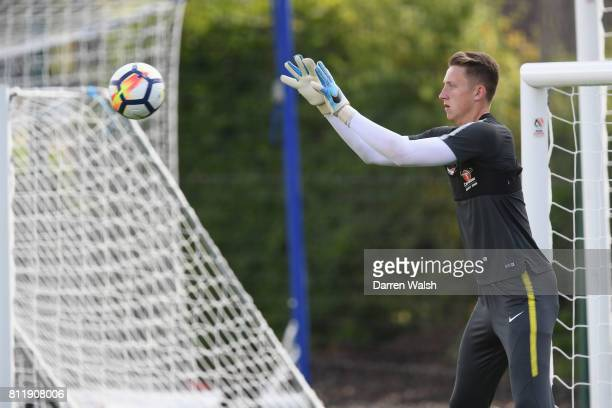 Marcin Bulka of Chelsea during a training session at Chelsea Training Ground on July 10 2017 in Cobham England