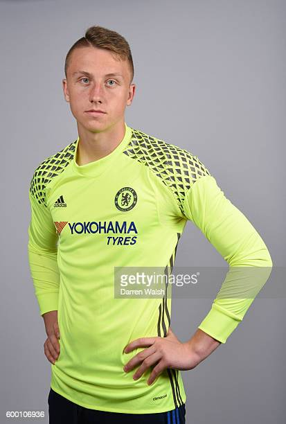 Marcin Bulka of Chelsea during the Official Portrait session at Chelsea Training Ground on August 11 2016 in Cobham England