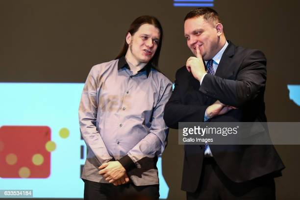 Marcin Chludzinski and Jakub Marszalkowski attend the inauguration of the campaign called programujgovpl on January 31 2017 in Warsaw Poland The...