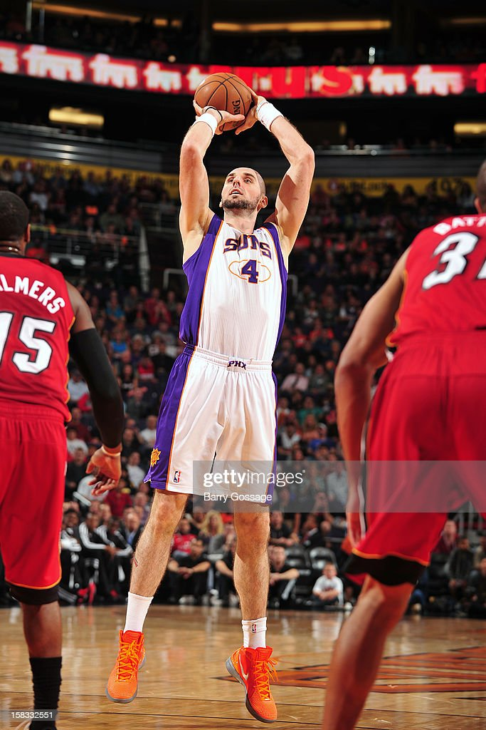 <a gi-track='captionPersonalityLinkClicked' href=/galleries/search?phrase=Marcin+Gortat&family=editorial&specificpeople=589986 ng-click='$event.stopPropagation()'>Marcin Gortat</a> #4 of the Phoenix Suns takes a shot against the Miami Heat on November 17, 2012 at U.S. Airways Center in Phoenix, Arizona.