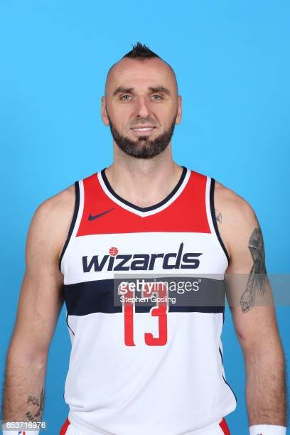 Marcin Gortat of the Washington Wizards poses for a head shot during Media Day on September 25 2017 at Captial One Center in Washington DC NOTE TO...