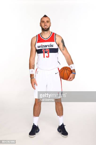 Marcin Gortat of the Washington Wizards poses for a portrait during Media Day on September 25 2017 at Capital One Center in Washington DC NOTE TO...