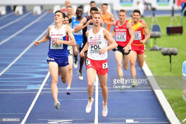 Marcin Lewandowski and Jake Wightman during the European Athletics Team Championships Super League at Grand Stade Lille Mtropole on June 24 2017 in...