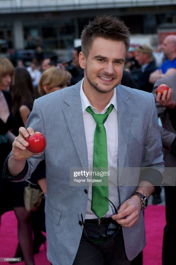 Marcin Mrozinski of Poland arrives on the pink carpet at the Eurovision Official Welcome Reception on May 23, 2010 in Oslo, Norway. In all, 39 countries will take part in the 55th Annual Eurovision Song Contest. Semi-finals are scheduled to take place on May 25-27, with the Final being held on May 29, 2010.