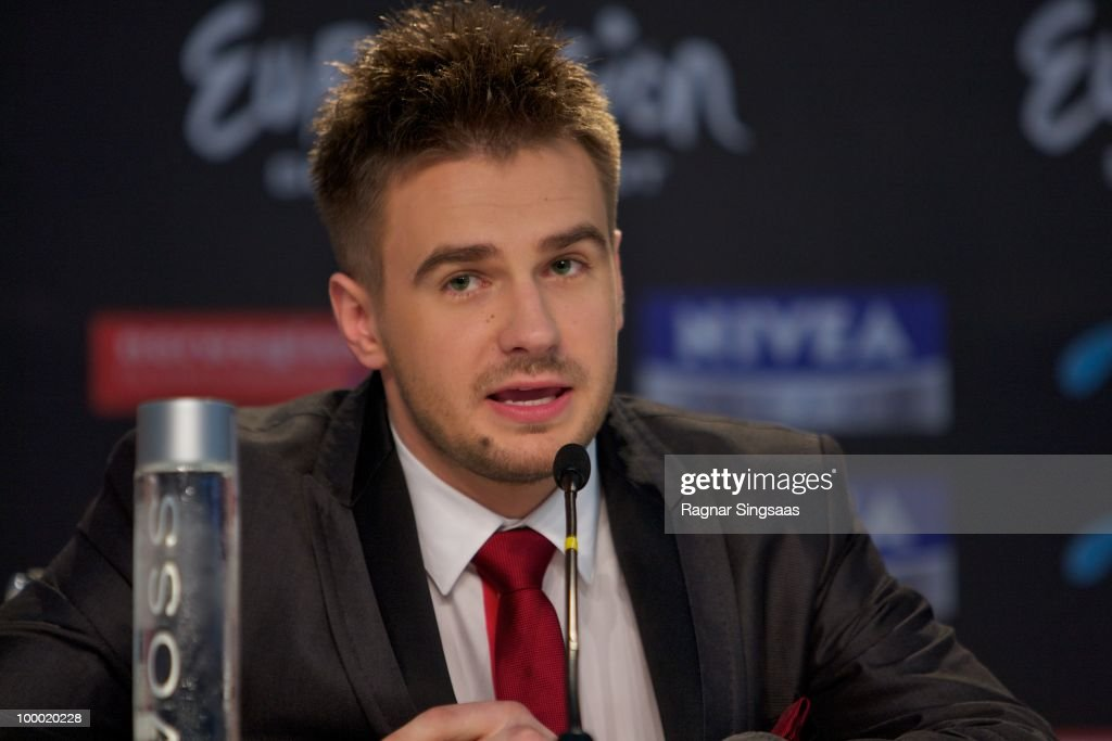 Marcin Mrozinski of Poland attends a press conference at the Telenor Arena on May 20 2010 in Oslo Norway 39 countries will take part in the 55th...