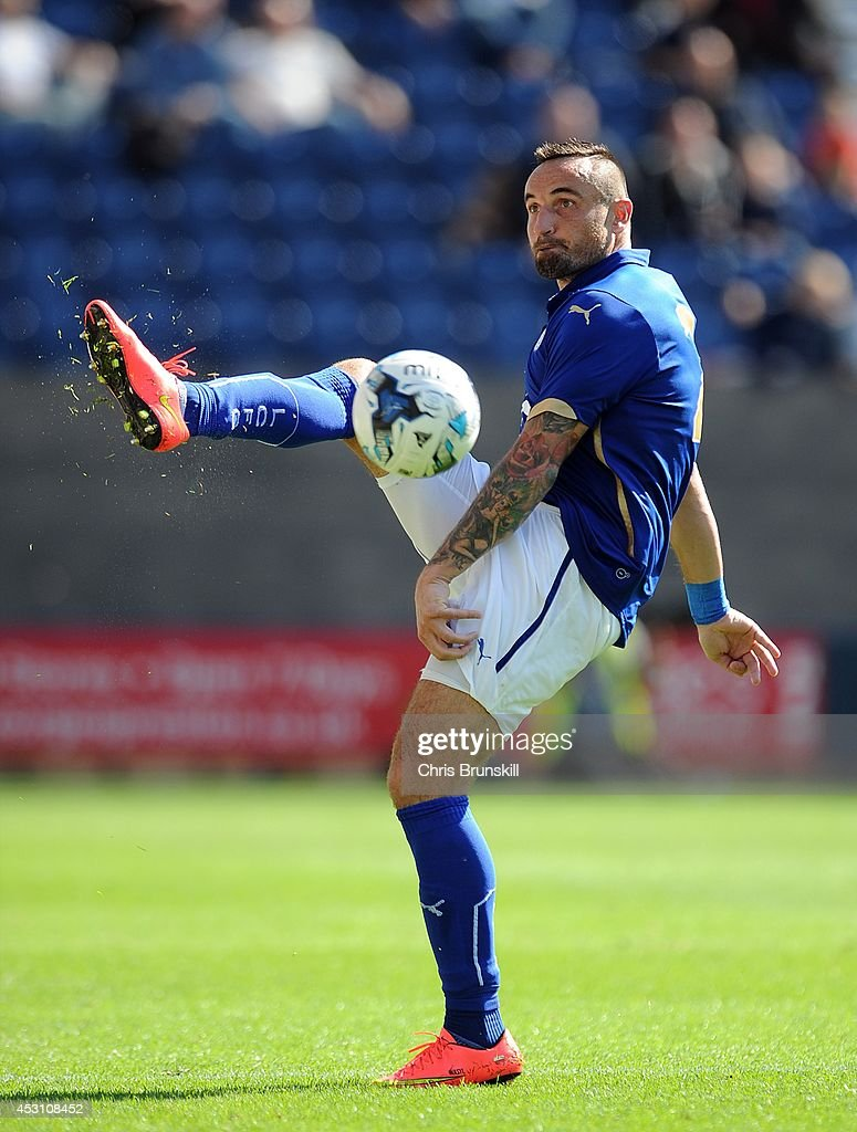 Marcin Wasilewski of Leicester City in action during the pre season friendly match between Preston North End and Leicester City at Deepdale on August...