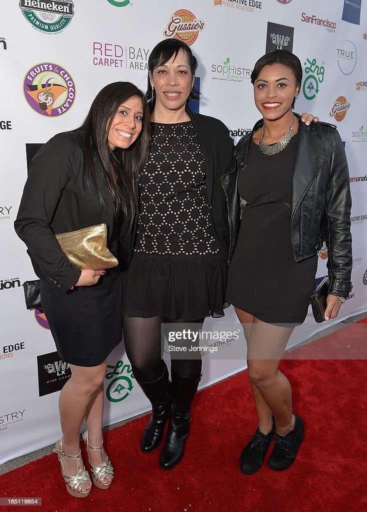 Marcina Ivershime, Renee Robinson and Raven Gance (L-R) attend the 6th Annual 'Where Hip Hop Meets Couture' Fashion Show at Dog Patch Wine Works on March 30, 2013 in San Francisco, California.