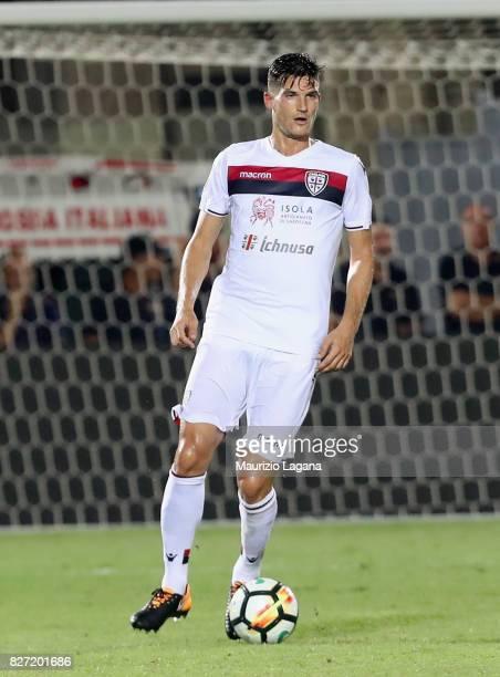 Marco Andreolli of Cagliari during the PreSeason Friendly match between FC Crotone and Cagliari Calcio at Stadio Comunale Ezio Scida on August 5 2017...