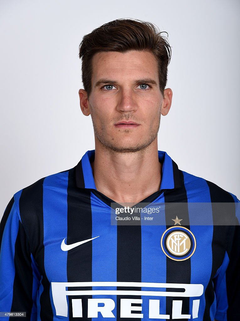 <a gi-track='captionPersonalityLinkClicked' href=/galleries/search?phrase=Marco+Andreolli&family=editorial&specificpeople=1452712 ng-click='$event.stopPropagation()'>Marco Andreolli</a> of FC Internazionale poses for his Serie A 2015-2016 season official headshot at Riscone di Brunico on July 7, 2015 in Bruneck, Italy.