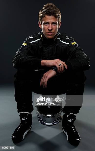 Marco Andretti driver of the Andretti Green Racing Dallara Honda poses for a portrait during Spring Testing for the IRL IndyCar Series on February 26...