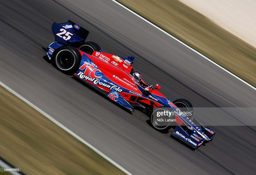 <a gi-track='captionPersonalityLinkClicked' href=/galleries/search?phrase=Marco+Andretti&family=editorial&specificpeople=540446 ng-click='$event.stopPropagation()'>Marco Andretti</a>, drives the #25 Andretti Autosport RC Cola Chevrolet during the Honda Indy Grand Prix of Alabama at Barber Motorsports Park on April 7, 2013 in Birmingham, Alabama.