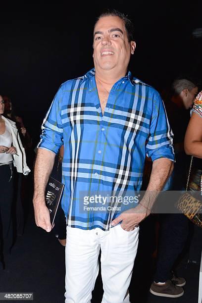 Marco Antonio De Biaggi attends the Agua de Coco por Liana Thomaz show at Sao Paulo Fashion Week Summer 2014/2015 at Parque Candido Portinari on...