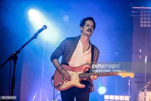 Marco Antonio Musella of Italian Rock band Thegiornalisti performs on stage on November 17 2016 in Milan Italy