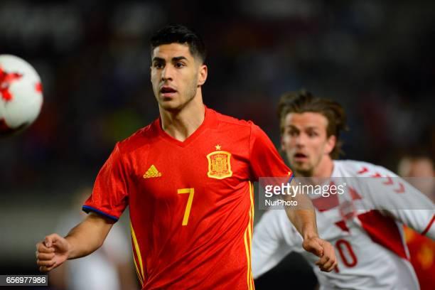 Marco Asensio Andersen during the friendly match of national teams U21 of Spain vs Denmark in stadium Nueva Condomina Murcia SPAIN March 23rd 2017