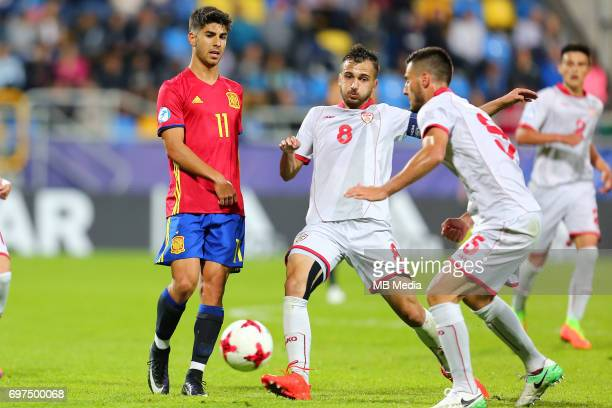 Marco Asensio Boban Nikolov during the UEFA European Under21 match between Spain and FYR Macedonia on June 17 2017 in Gdynia Poland