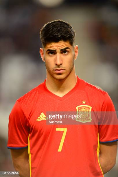 Marco Asensio during the friendly match of national teams U21 of Spain vs Denmark in stadium Nueva Condomina Murcia SPAIN March 23rd 2017