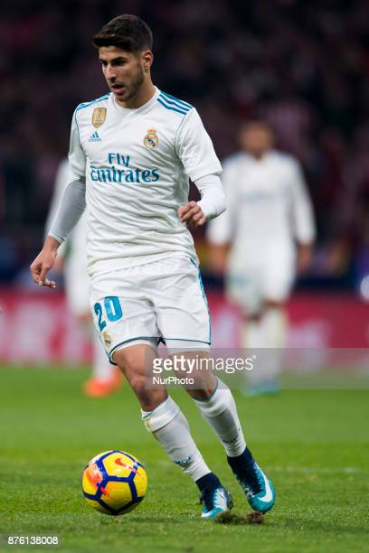 Marco Asensio during the match between Atletico de Madrid and Real Madrid week 12 of La Liga at Wanda Metropolitano stadium Madrid SPAIN 18th...