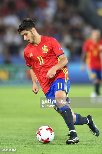 Marco Asensio during the UEFA European Under21 final match between Germany and Spain on June 30 2017 in Krakow Poland