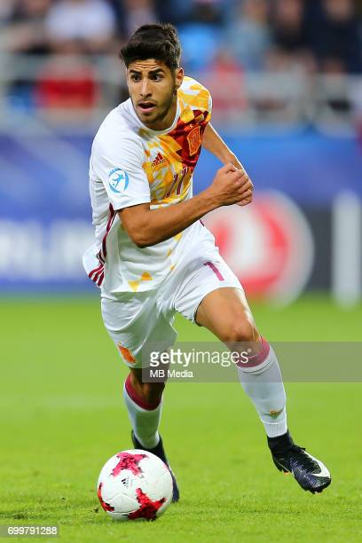 Marco Asensio during the UEFA European Under21 match between Portugal and Spain on June 20 2017 in Gdynia Poland