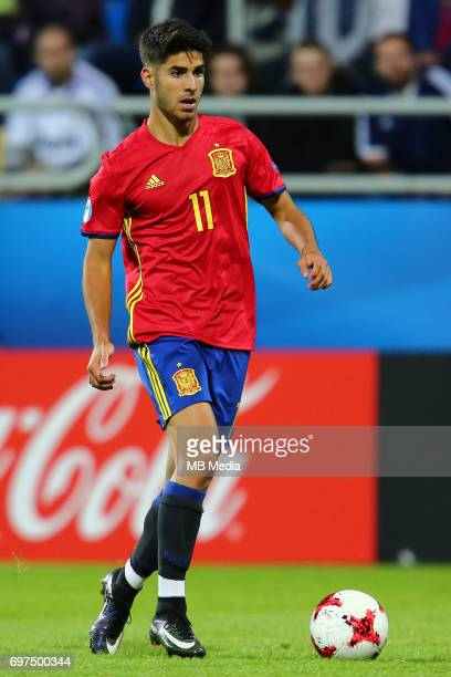 Marco Asensio during the UEFA European Under21 match between Spain and FYR Macedonia on June 17 2017 in Gdynia Poland