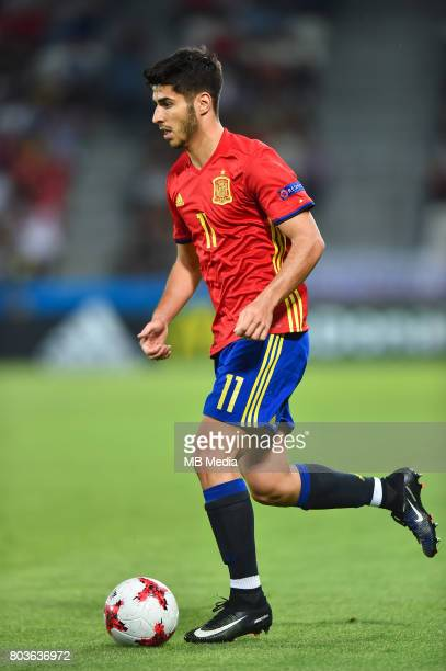 Marco Asensio during the UEFA European Under21 match between Spain and Italy on June 27 2017 in Krakow Poland