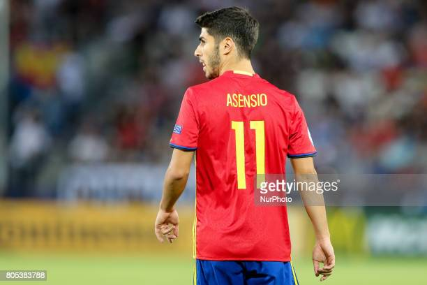 Marco Asensio during the UEFA U21 Final match between Germany and Spain at Krakow Stadium on June 30 2017 in Krakow Poland