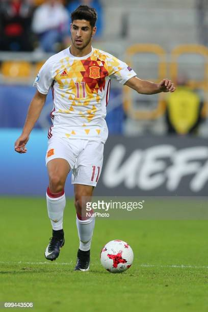 Marco Asensio during their UEFA European Under21 Championship match against Portugal on June 20 2017 in Gdynia Poland