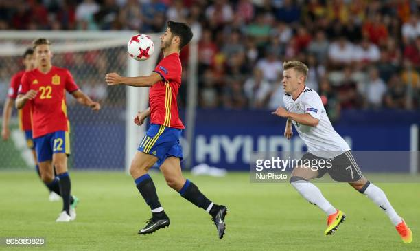 Marco Asensio Max Meyer during the UEFA U21 Final match between Germany and Spain at Krakow Stadium on June 30 2017 in Krakow Poland