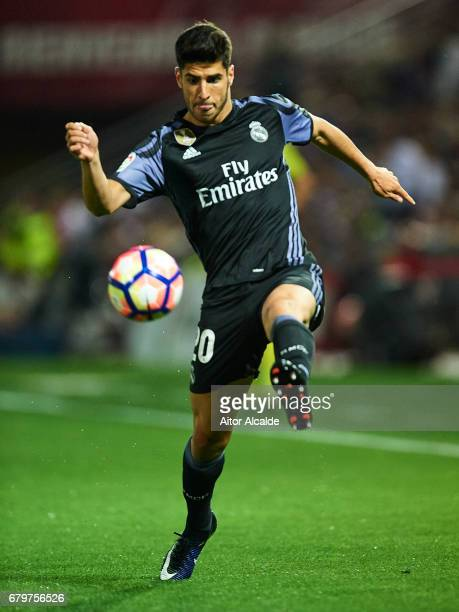 Marco Asensio of Real Madrid CF in action during the La Liga match between Granada CF v Real Madrid CF at Estadio Nuevo Los Carmenes on May 6 2017 in...