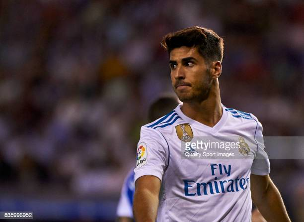 Marco Asensio of Real Madrid during the La Liga match between Deportivo La Coruna and Real Madrid at Riazor Stadium on August 20 2017 in La Coruna...