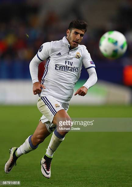 Marco Asensio of Real Madrid during the UEFA Super Cup match between Real Madrid and Sevilla at Lerkendal Stadium on August 9 2016 in Trondheim Norway