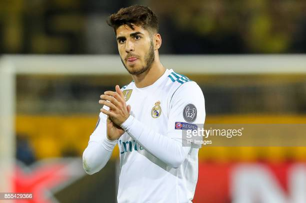 Marco Asensio of Real Madrid gestures during the UEFA Champions League group H match between Borussia Dortmund and Real Madrid at Signal Iduna Park...